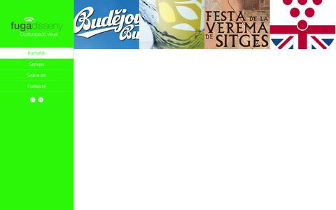 Screenshot of Home Page fugadisseny.com - fugadisseny - Comunicació visual - captured Jan. 27, 2015