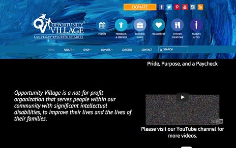 Screenshot of Home Page opportunityvillage.org - Las Vegas' Favorite Charity   Opportunity Village - captured June 17, 2015