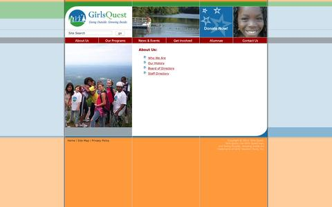 Screenshot of About Page girlsquest.org - Girls Quest ¥ About Us - captured Dec. 9, 2015