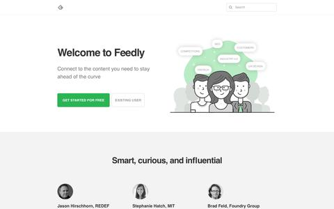 Welcome to Feedly