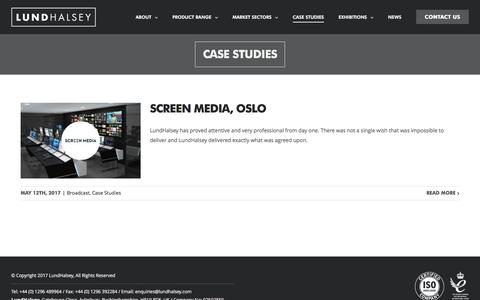 Screenshot of Case Studies Page lundhalsey.com - Case Studies | LundHalsey - captured May 24, 2017