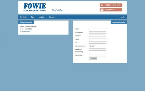 Screenshot of Contact Page fowie.nl - Contact - Fowie - captured Sept. 30, 2014
