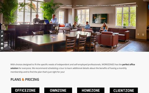 Screenshot of Pricing Page workzones.com - Our Pricing | WORKZONES Coworking Space | Santa Barbara, CA - captured Sept. 21, 2018