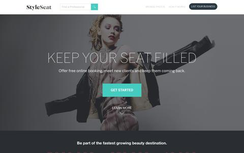 Screenshot of Signup Page styleseat.com - Lauren says... - captured Jan. 14, 2016