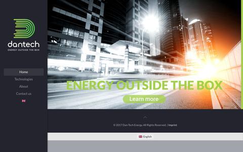 Screenshot of Home Page danenergy.com - Energy outside the box – Energy outside the box - captured Oct. 11, 2017