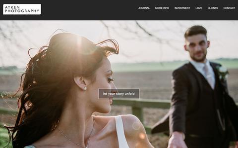 Screenshot of Home Page atkenphotography.co.uk - Atken Photography | Professional Wedding, Studio & Location Photography - captured July 31, 2018