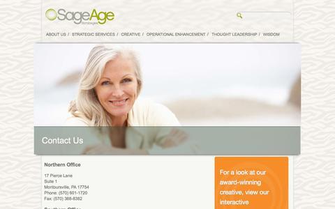 Screenshot of Contact Page sageagestrategies.com - Contact Us | Sage Age Strategies - captured Sept. 30, 2014