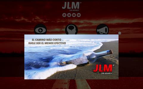 Screenshot of Home Page jlm-agency.com - JLM The Agency- Diseño Grafico, Publicidad, Mercadeo y Medios Web - captured Oct. 4, 2014