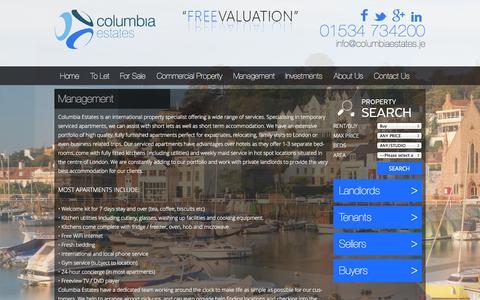 Screenshot of Team Page columbiaestates.je - Management   Columbia Estates; No.1 Estate Agents in Jersey - captured Sept. 23, 2014