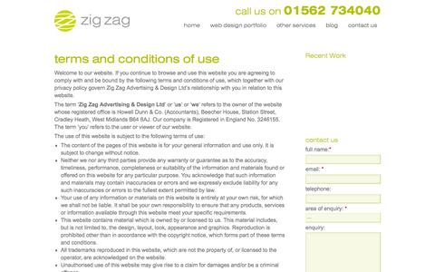 Screenshot of Terms Page webdesignworcestershire.co.uk - terms & conditions of use | Web Design Worcestershire - captured March 11, 2016