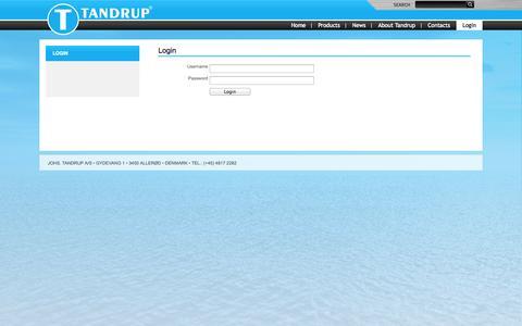 Screenshot of Login Page tandrup.dk - Login - captured Oct. 6, 2014
