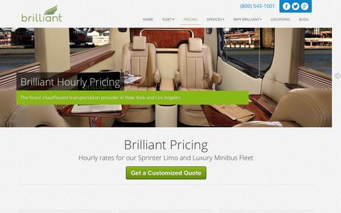 Screenshot of Pricing Page go-brilliant.com - Brilliant Pricing - Hourly Rates - Flat Rates Available. - captured Sept. 23, 2014