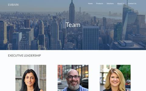 Screenshot of Team Page embark.com - Team – Embark - captured April 20, 2018