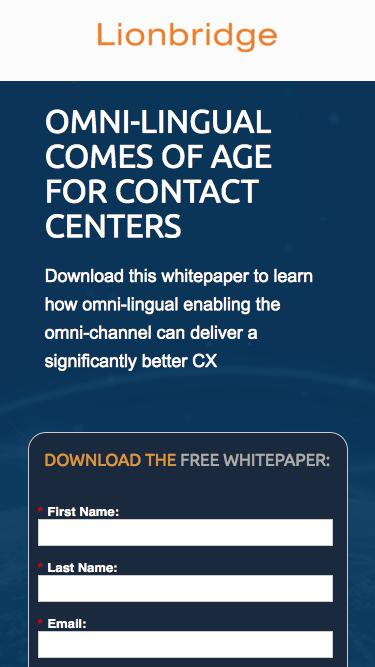 Omni-Lingual Comes of Age for Contact Centers