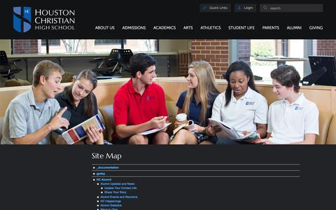 Screenshot of Site Map Page houstonchristian.org - Houston Christian High School: Site Map - captured Nov. 13, 2016