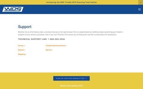 Screenshot of Support Page westerndatasystems.com - Support — WDS-US - captured Dec. 16, 2016