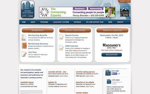 Screenshot of Home Page dtc-cbw.org - DTC CBW | - captured Oct. 3, 2014