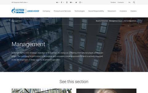 Screenshot of Team Page gazprom-neft.com - Management — Gazprom Neft PJSC - captured Oct. 12, 2019