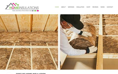 Screenshot of Home Page homeinsulations.co.za - Home Insulations | Aerolite | Isotherm | Knauf | Thermal Insulation - captured July 21, 2018