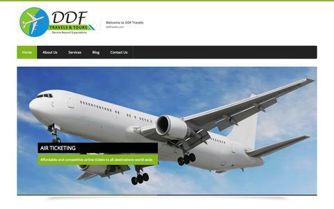 Screenshot of Home Page ddftravels.com - Top Travel Agencies in Nigeria - captured Oct. 6, 2014