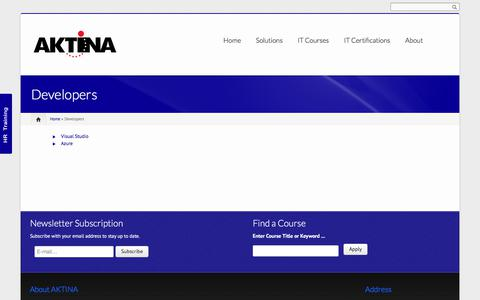 Screenshot of Developers Page aktina.com.cy - Developers | AKTINA IT - captured Oct. 7, 2017