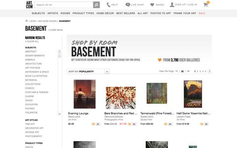 Art for Basement at Art.com
