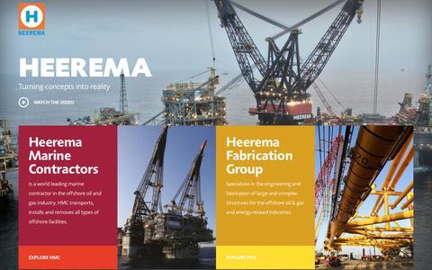 Screenshot of Home Page heerema.com - Heerema - captured Oct. 8, 2016