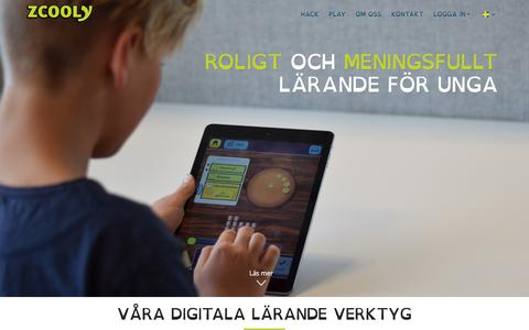 Screenshot of Home Page zcooly.se - Zcooly - captured Sept. 21, 2018