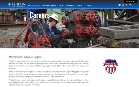 Screenshot of Jobs Page fortisenergyservices.com - Fortis Energy Services, Inc. | Careers - captured July 13, 2019