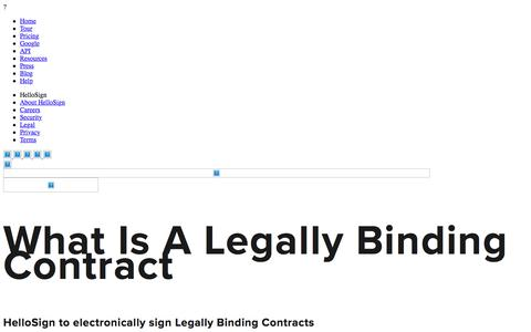 What Is A Legally Binding Contract