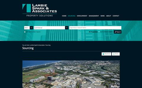 Screenshot of Services Page lambiespark.co.za - Sourcing Commercial & Industrial Property | Lambie Spark & Associates - captured June 8, 2016