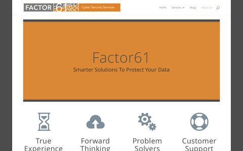 Screenshot of About Page factor61.com - About Us | Factor61 - captured Jan. 8, 2016