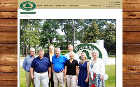 Screenshot of Team Page wacclt.com - Meet Our Team   Waccamaw Land & Timber - captured Feb. 13, 2016