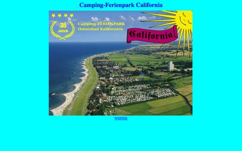 "Screenshot of Home Page camping-california.de - Camping-Ferienpark ""California"" - captured June 24, 2018"