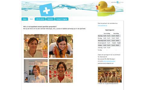 Screenshot of Team Page apomaertens.be - Team - Welkom bij apotheek Maertens! - captured Oct. 5, 2017
