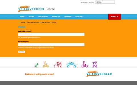Screenshot of Login Page vvn.nl - Home | Heerde - captured Nov. 4, 2014