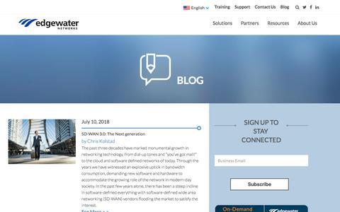 Screenshot of Blog edgewaternetworks.com - Edgewater Networks Blog - captured July 12, 2018