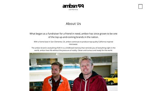 Screenshot of About Page ambsn.com - About Us – ambsn - captured July 31, 2018