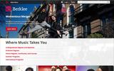 Old Screenshot Berklee College of Music Home Page