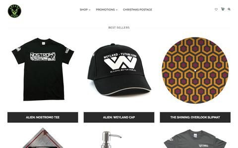 Screenshot of Home Page arcanestore.com - Arcane Store - Movie Inspired Tshirts, Caps, Clothing and Accessories - captured Nov. 20, 2018