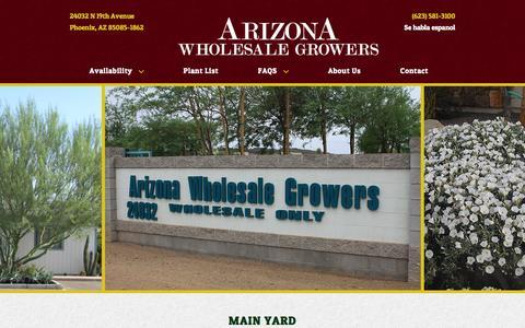 Screenshot of Contact Page azwholesalegrowers.com - Contact | AZ Wholesale Growers - captured Oct. 4, 2014