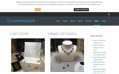 Screenshot of Press Page luigisalagioielli.com - News - captured July 17, 2016
