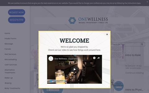 Screenshot of Blog one-wellness.ca - Blogs - One Wellness and Spa Canmore - captured Aug. 19, 2019