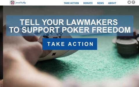 Screenshot of Home Page theppa.org - Poker Players Alliance | Proud to Play - captured Nov. 17, 2015