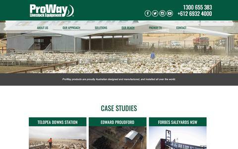 Screenshot of Case Studies Page proway.com.au - Case Studies | Proway - captured April 16, 2017
