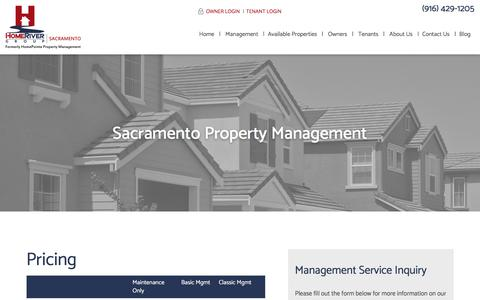 Screenshot of Pricing Page homepointe.com - Pricing | HomeRiver Group Sacramento - captured May 22, 2018