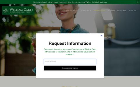 Screenshot of Testimonials Page wciu.edu - Testimonials — William Carey International University - captured May 30, 2019