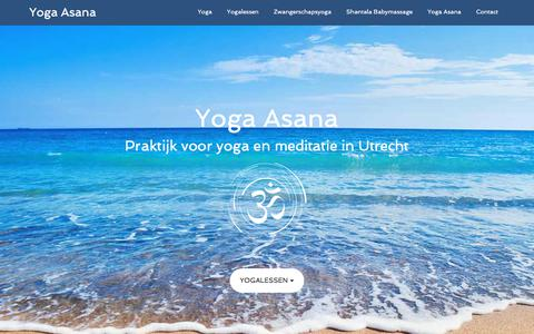 Screenshot of Home Page yoga-asana.nl - Yoga Asana - Praktijk voor yoga en meditatie in Utrecht - captured Sept. 13, 2018