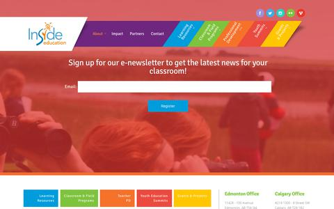 Screenshot of Signup Page insideeducation.ca - E-Newsletters | Inside Education - captured Nov. 6, 2018