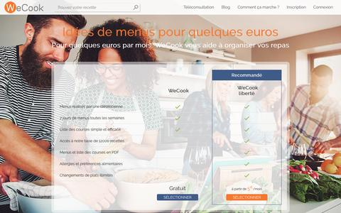 Screenshot of Pricing Page wecook.fr - WeCook - captured Sept. 23, 2018